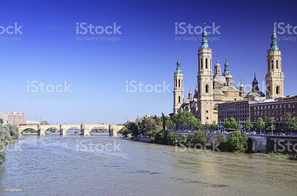 Basilica Our Lady of the Pillar royalty-free stock photo