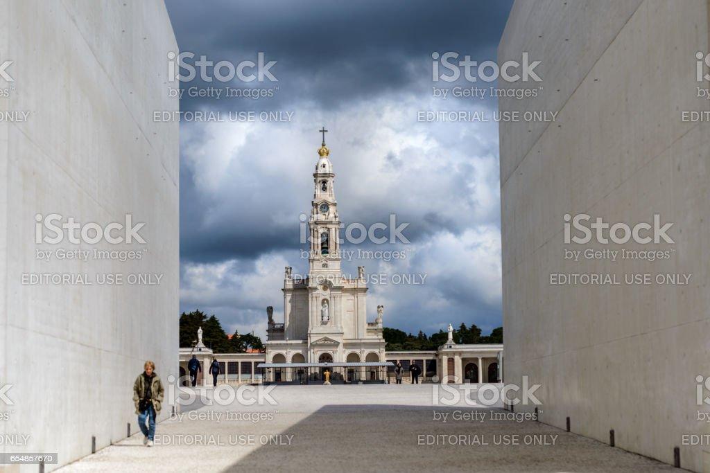 Basilica Our Lady of the Rosary of Fatima, The Sanctuary of Fátima, Portugal stock photo