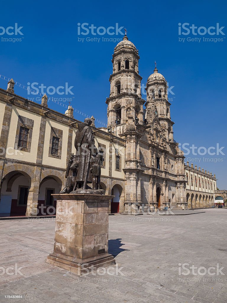 Basilica Our Lady of Zapopan Cathederal Mexico stock photo