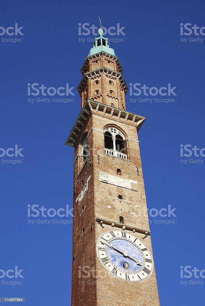 Basilica Palladiana Clock Tower, Torre Bissara stock photo
