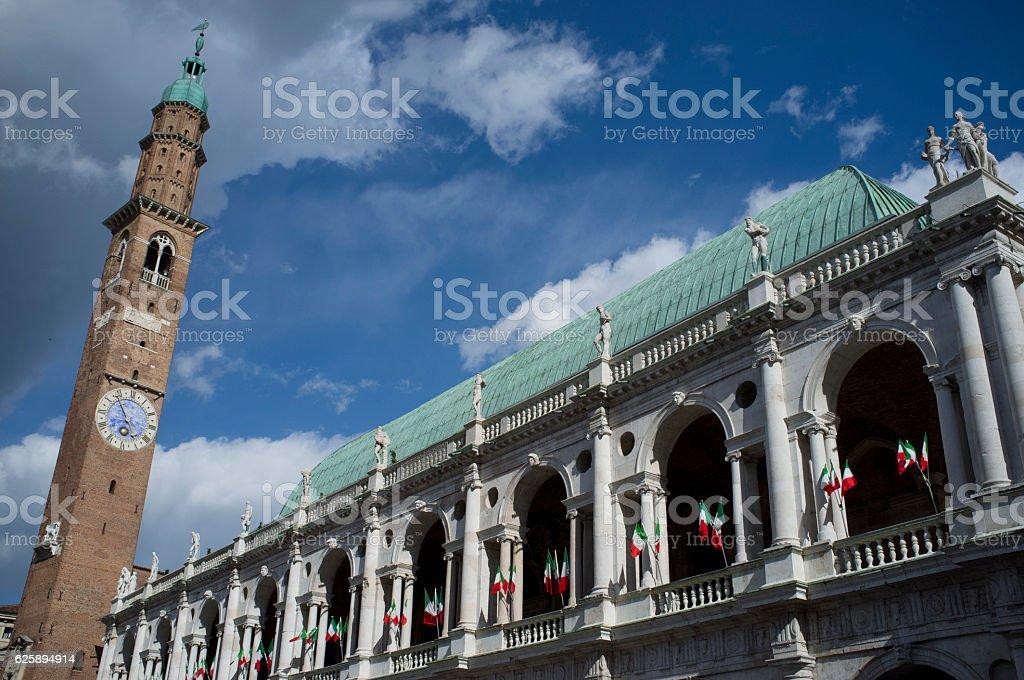 Basilica Palladiana in Piazza dei Signori, Vicenza, Italy stock photo