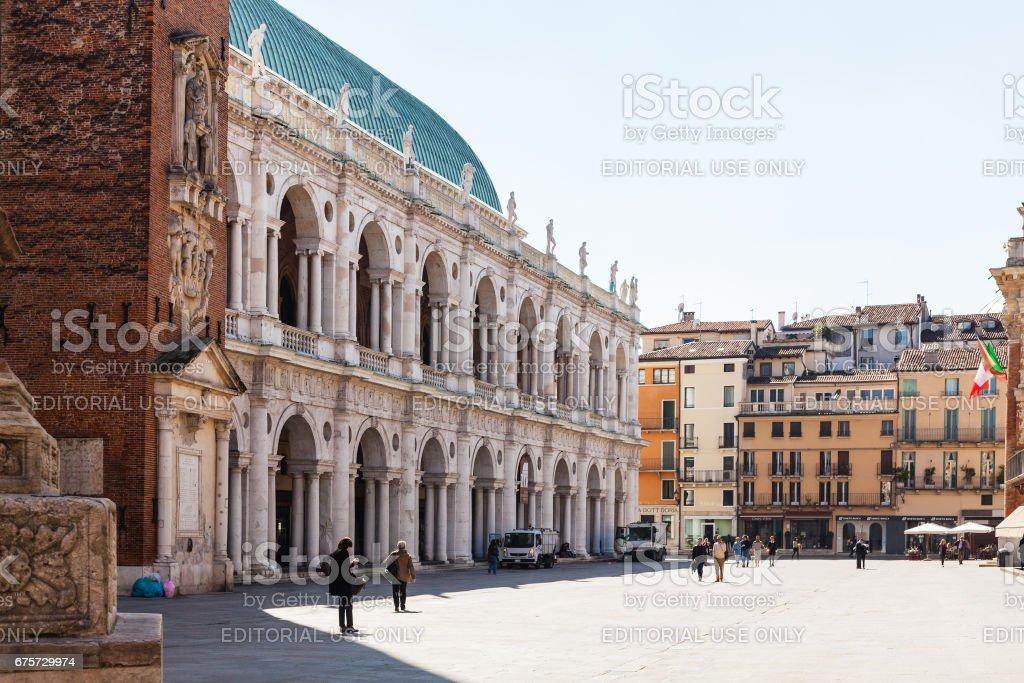 Basilica Palladiana on Piazza dei Signori stock photo