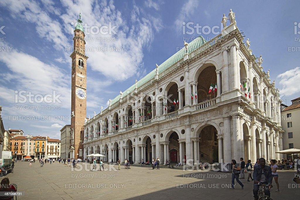 Basilica Palladiana ('Palazzo della Ragione'). Vicenza-Italy. stock photo