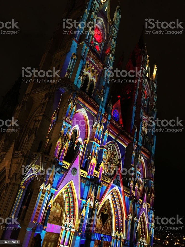 Basilica Quito stock photo