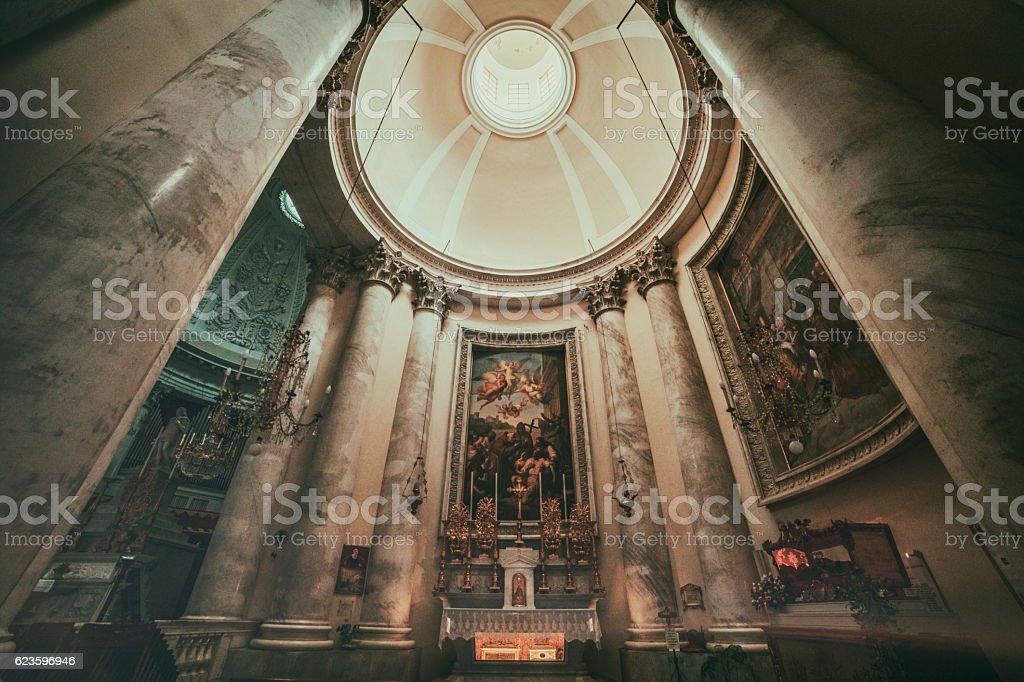 Basilica S. Maurizio, Imperia, Italy stock photo