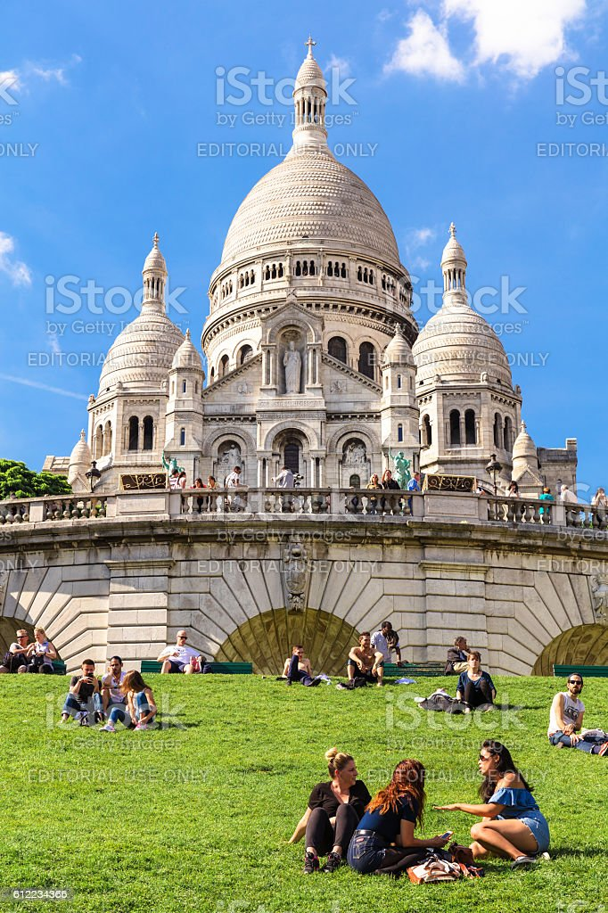 Basilica Sacre Coeur on Montmartre hill, Paris, France royalty-free stock photo