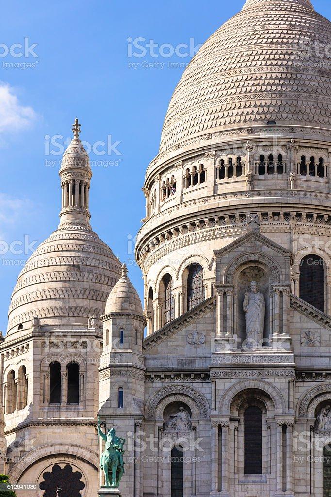 Basilica Sacre Coeur on Montmartre hill. Paris, France royalty-free stock photo