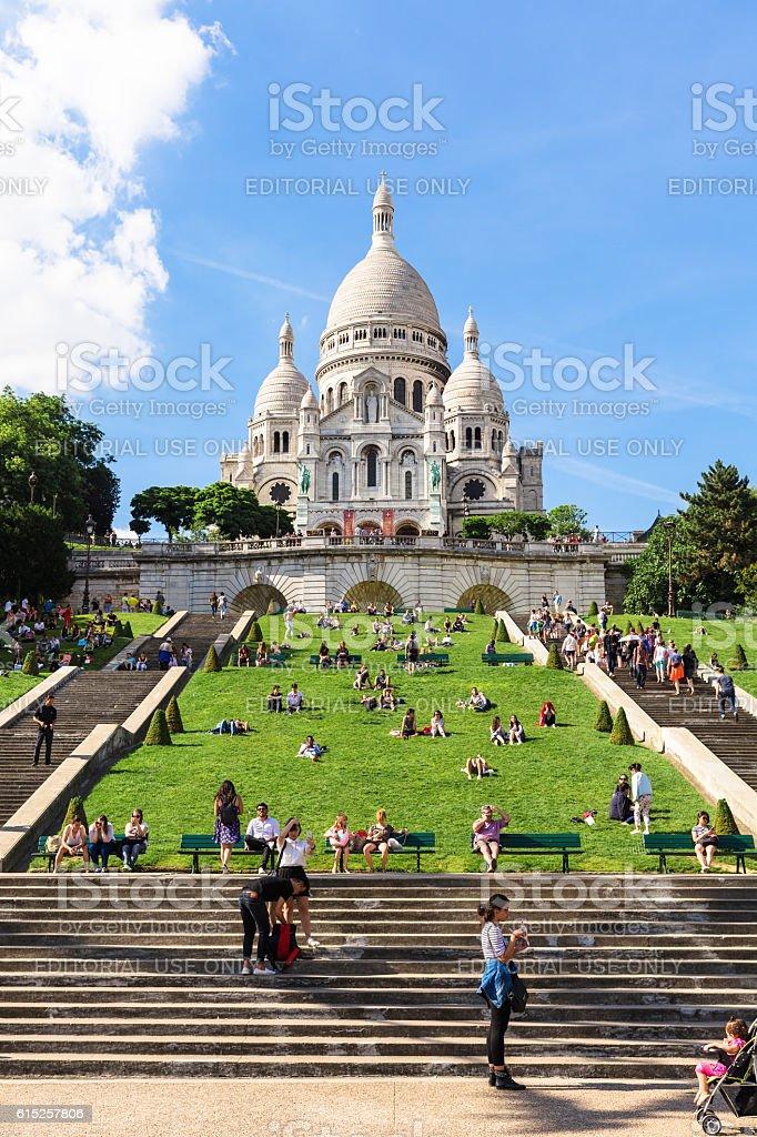 Basilica Sacre Coeur on Montmartre hill, Paris, France royalty-free stock photo