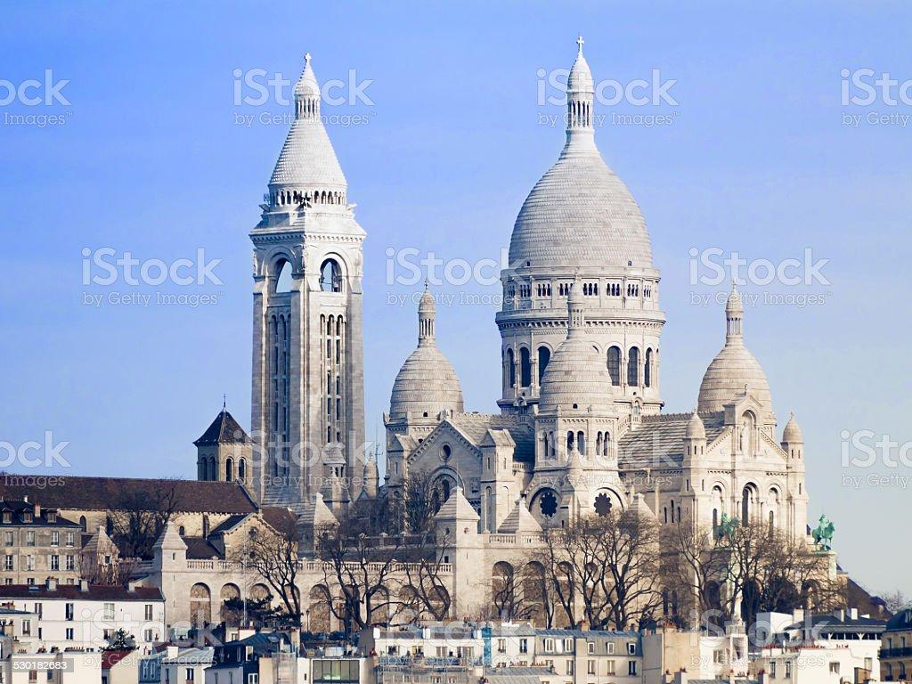 Basilica Sacre-Coeur Paris stock photo