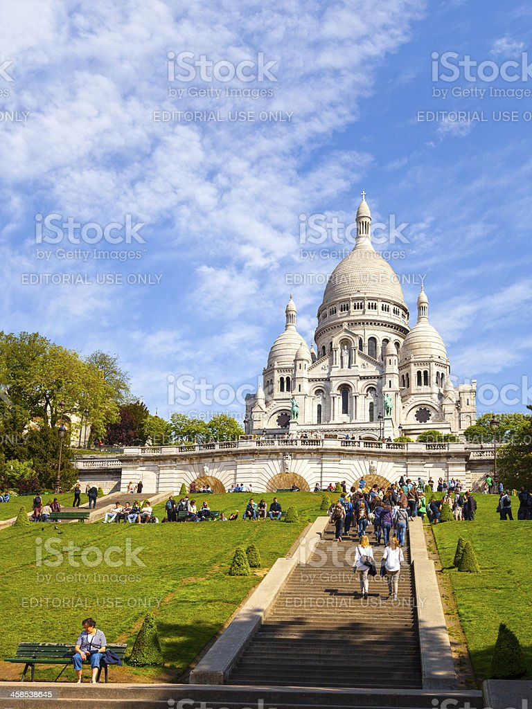Basilica Sacre-Coeur royalty-free stock photo