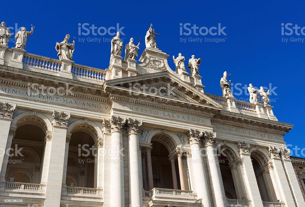 Basilica San Giovanni in Laterano in Rome. stock photo