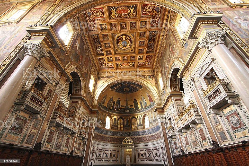 Basilica San Giovanni in Laterano, Rome stock photo