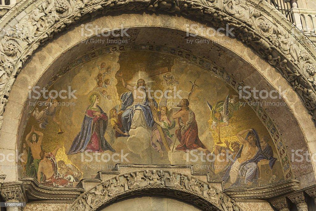 Basilica San Marco in Venice royalty-free stock photo