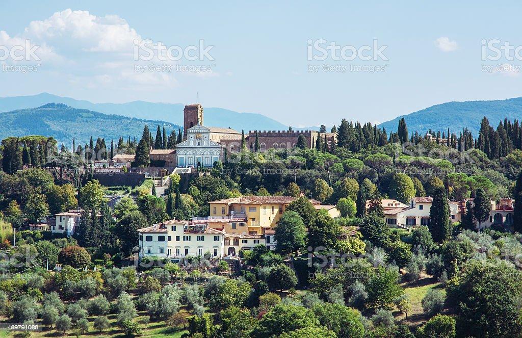 Basilica San Miniato al Monte, Florence, Italy stock photo