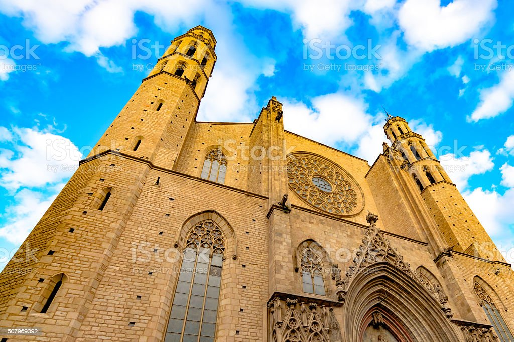 Basilica Santa Maria del Mar stock photo