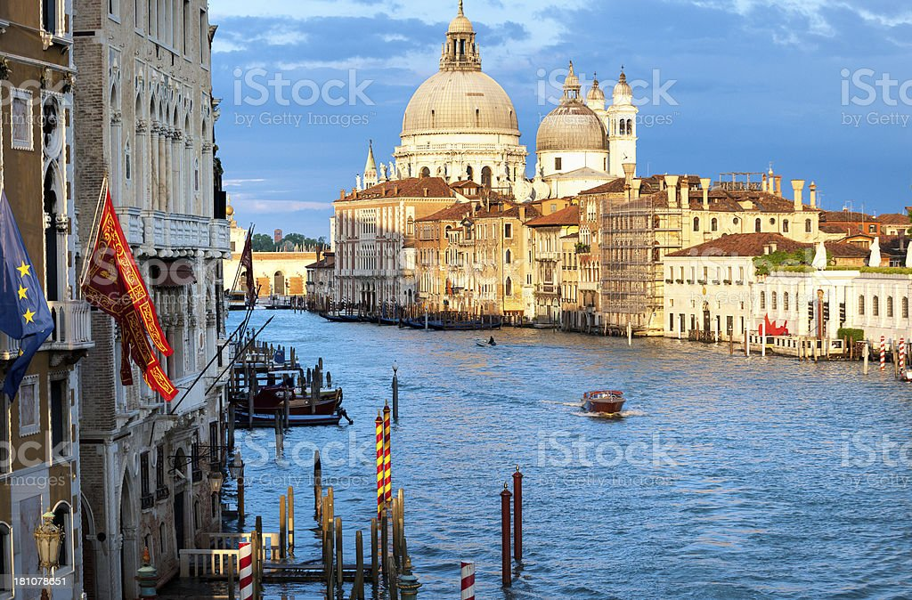 basilica Santa Maria della Salute at sunset, Venice Italy royalty-free stock photo