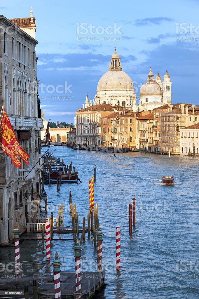 basilica Santa Maria della Salute at sunset, Venice Italy royalty-free stock photo