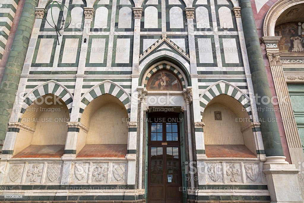 Basilica Santa Maria Novella church in Florence, Italy stock photo