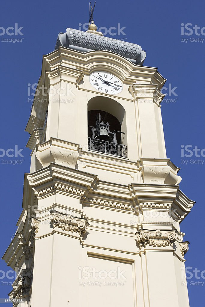 Basilica St Margaret of Antiochia in Santa Margherita Ligure, Italy royalty-free stock photo