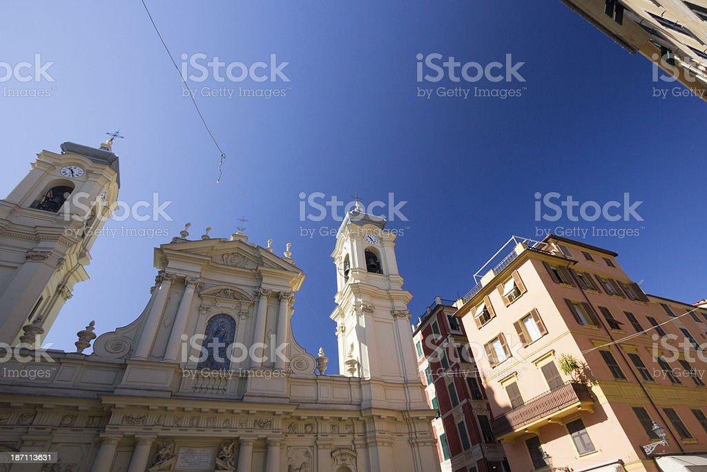 Basilica St Margaret of Antiochia in Santa Margherita Ligure, Italy royalty-free stock photo