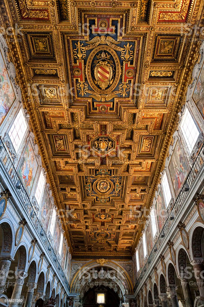 Basilica St. Mary of the Altar of Heaven, Rome, Italy stock photo