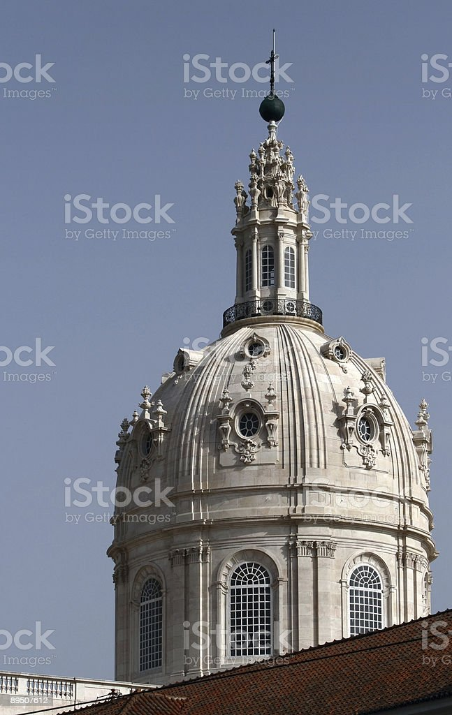 Basilica's cupola royalty-free stock photo