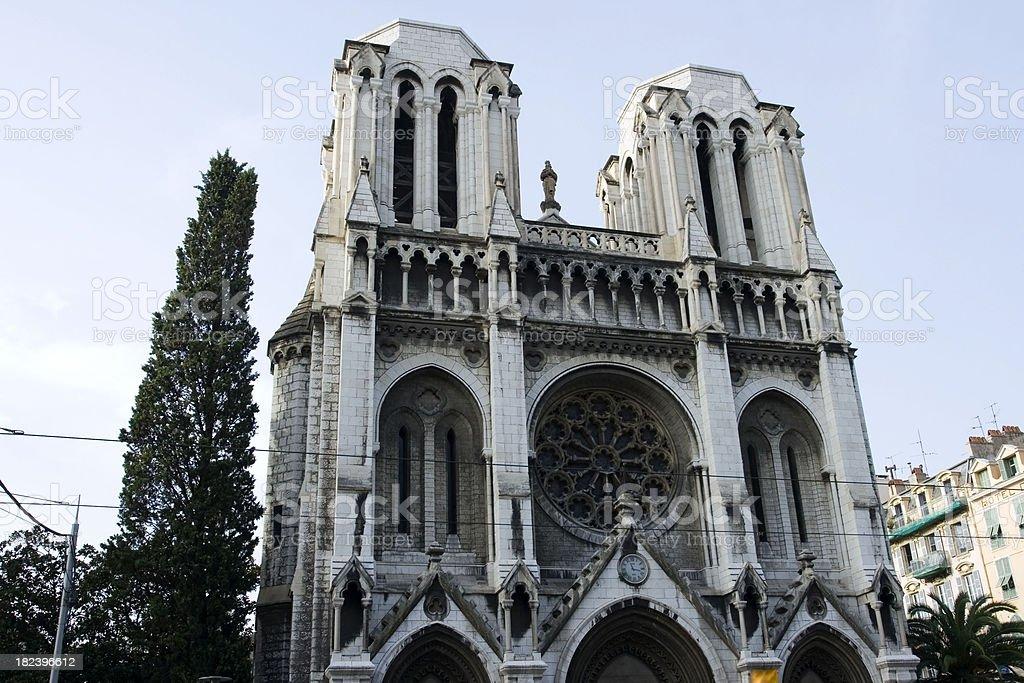 Basilique Notre Dame, Nice, France royalty-free stock photo