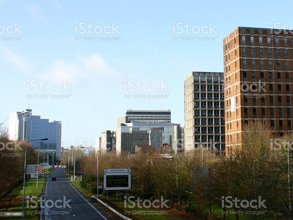 Basingstoke Business Skyline royalty-free stock photo