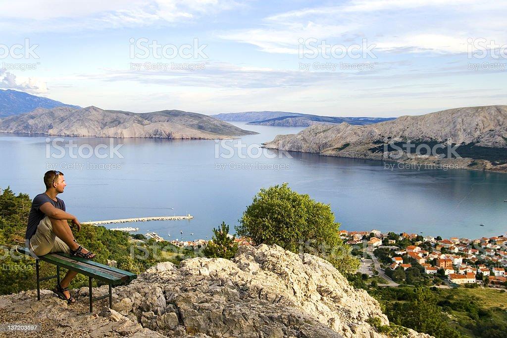 Baska, Krk island stock photo