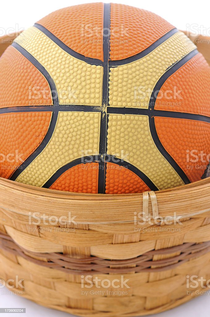 Basket and ball royalty-free stock photo