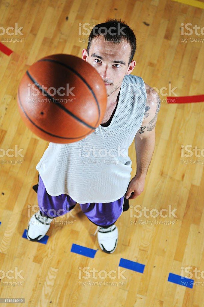 basket ball game player portrait royalty-free stock photo