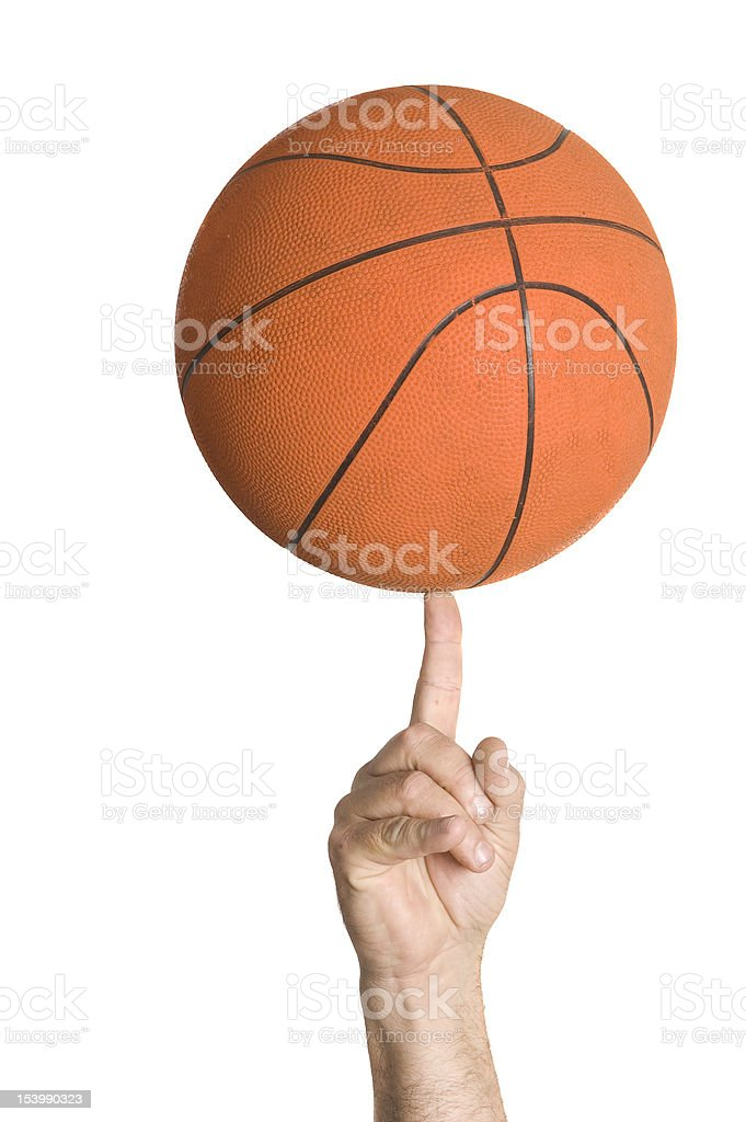 Basket Ball Spinning stock photo
