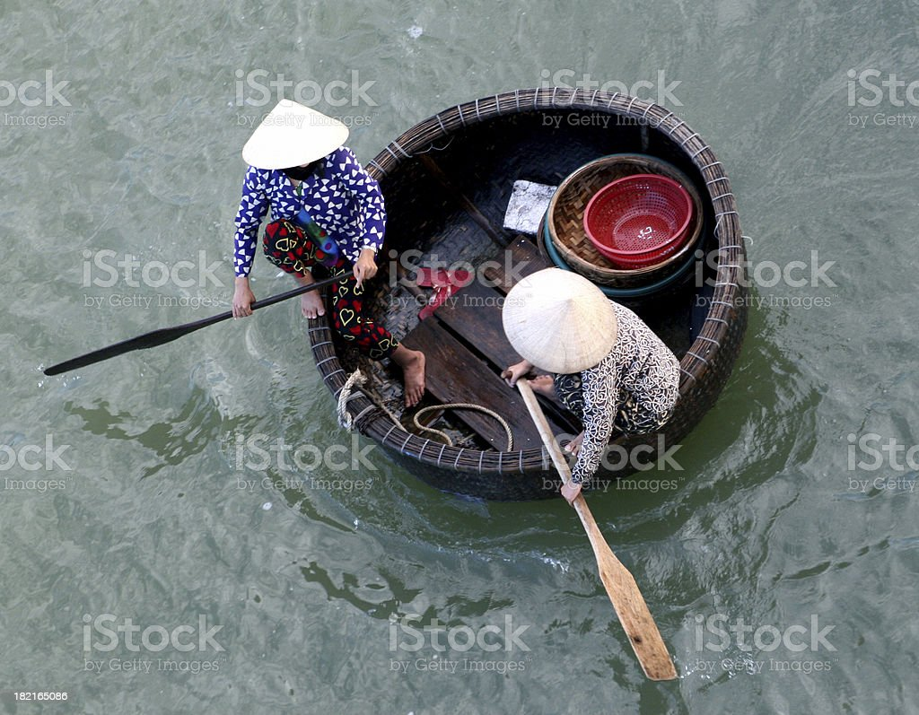 Basket Boat stock photo
