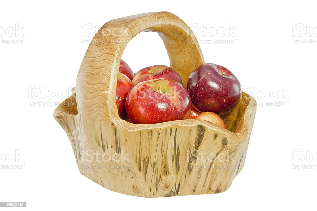 Basket full of apples royalty-free stock photo