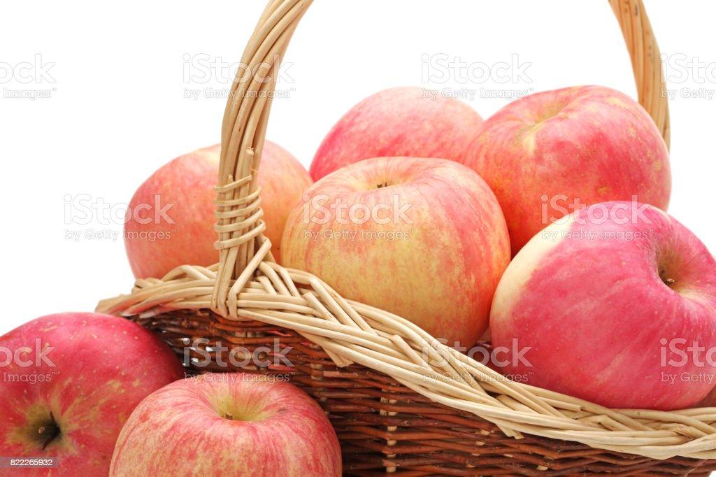 Basket full of apples stock photo