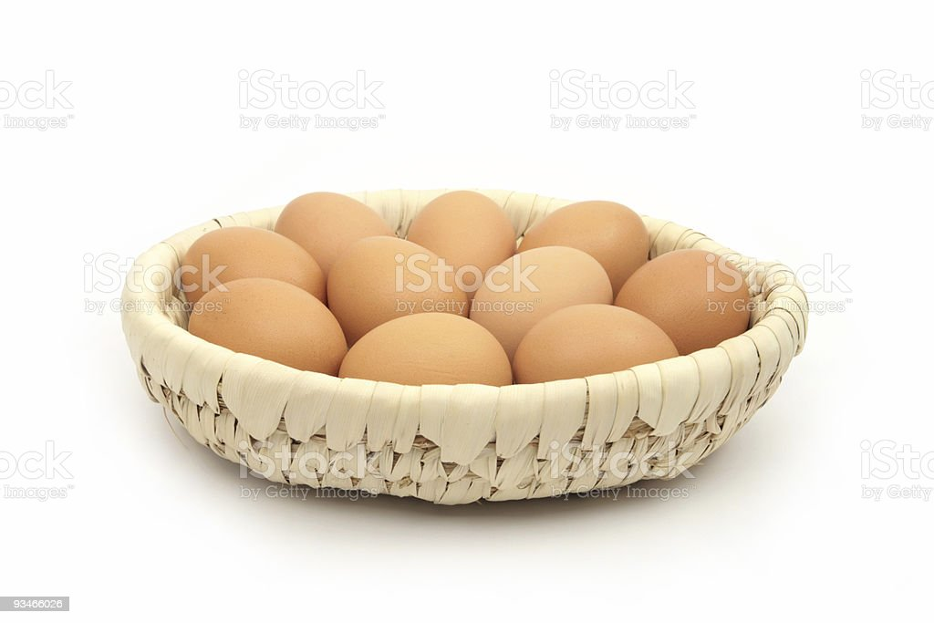 Basket full of eggs royalty-free stock photo