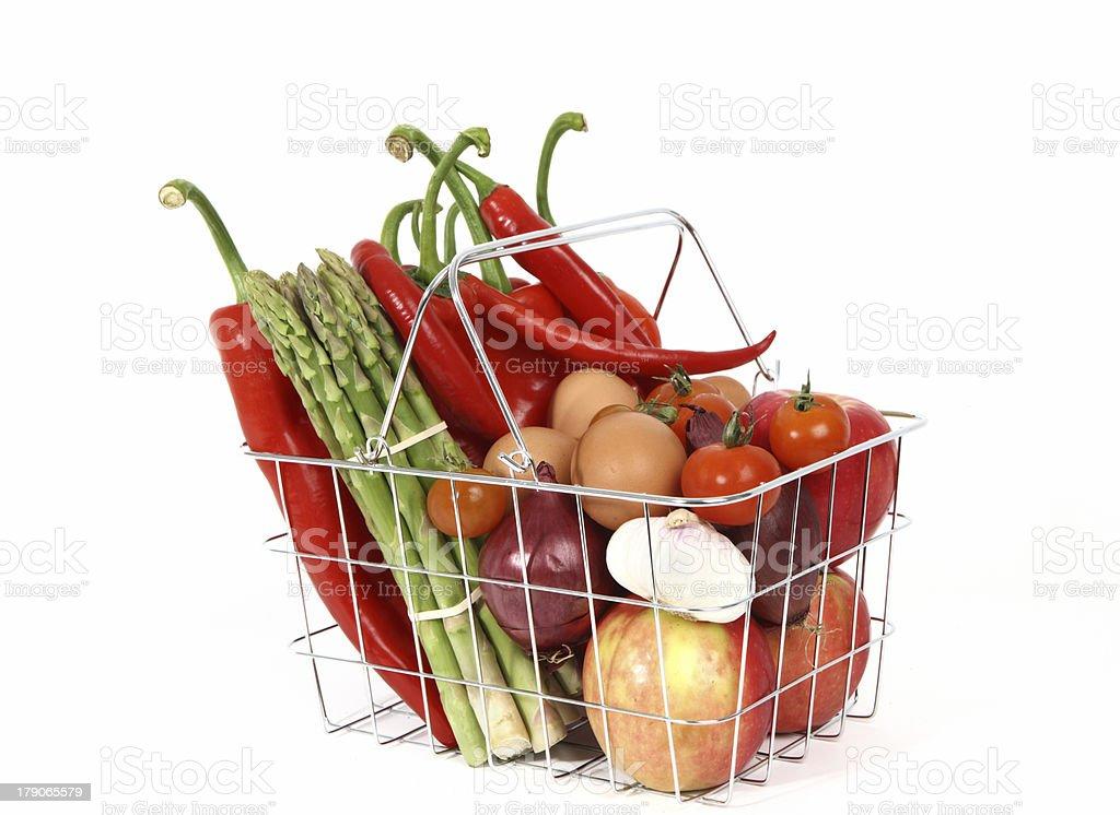 basket full of freshness royalty-free stock photo