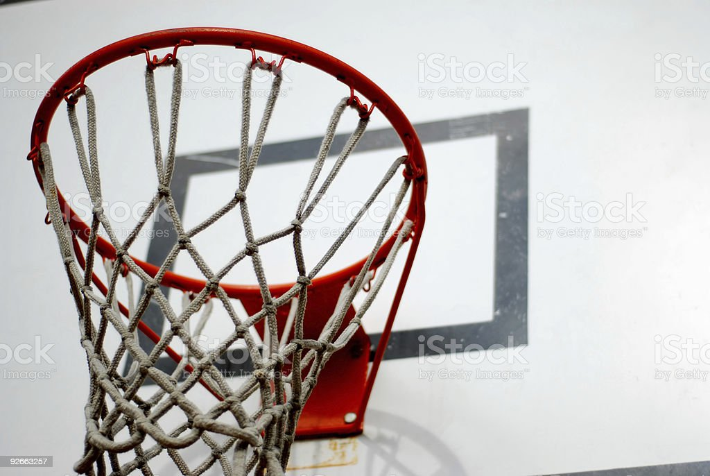 Basket hoop royalty-free stock photo