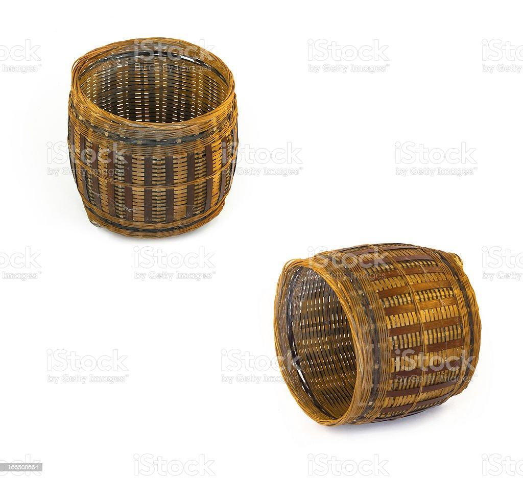 Basket . isolated illustration on white backgroundcloth royalty-free stock photo