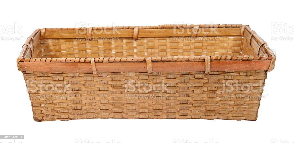 Basket isolated on white background stock photo