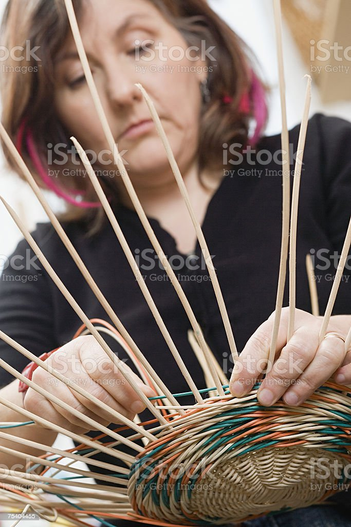 Basket maker royalty-free stock photo