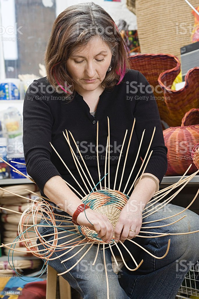 Basket maker stock photo