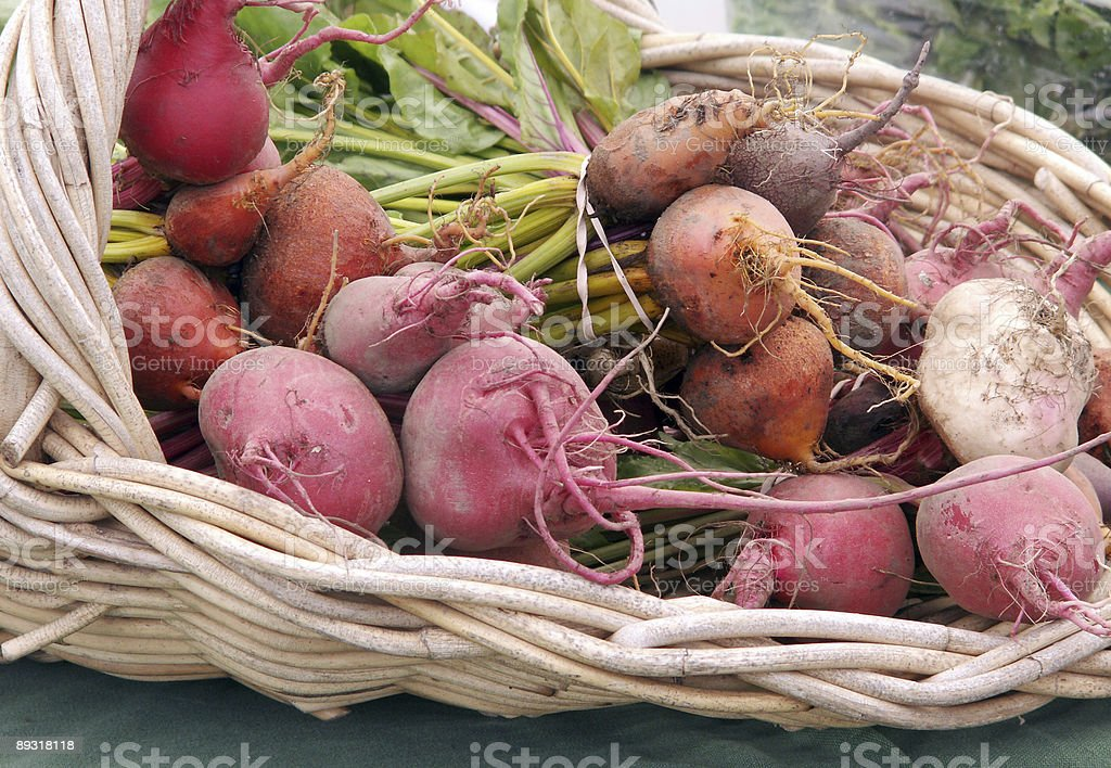 Basket of Beets royalty-free stock photo