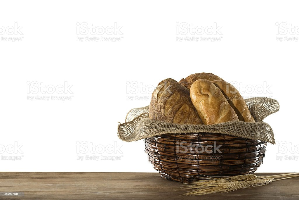 Basket of bread royalty-free stock photo