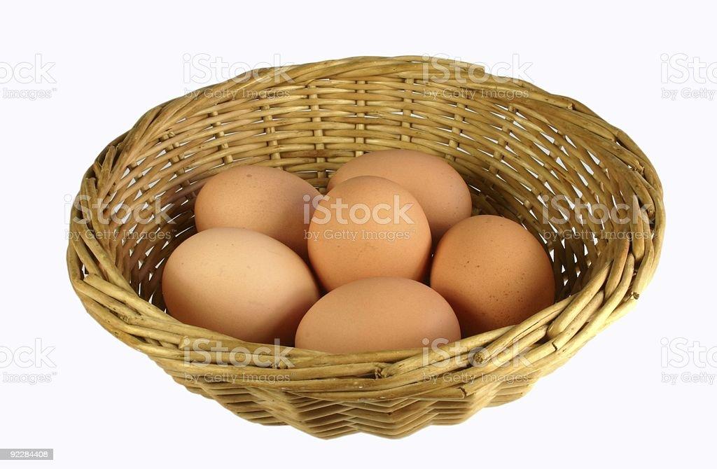 Basket Of Eggs royalty-free stock photo