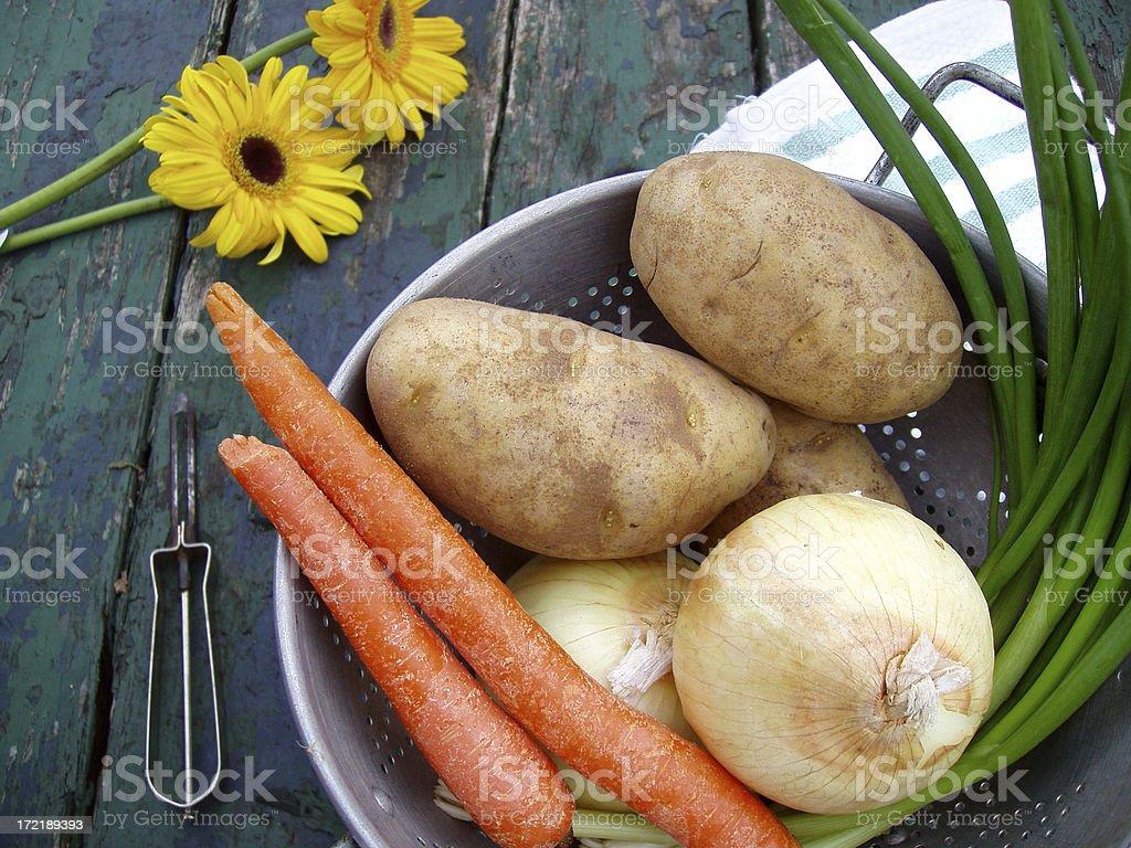 Basket of Fresh Vegetables stock photo