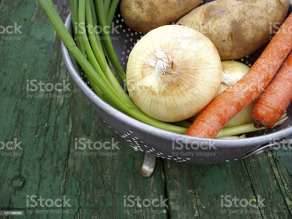 Basket of Fresh Vegetables stock photo