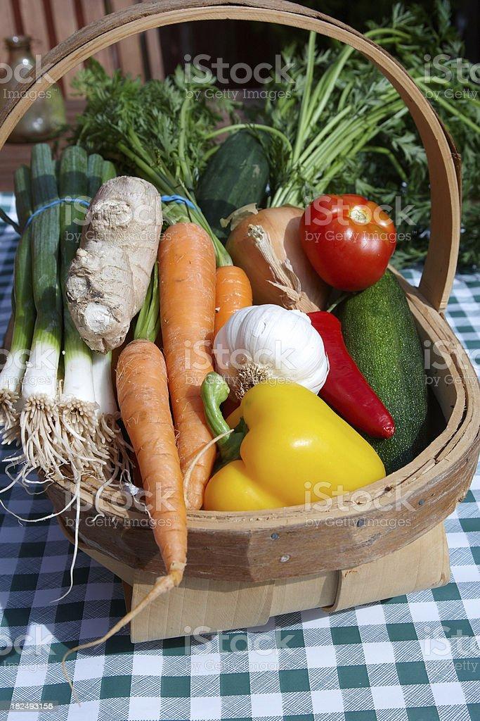 Basket of fresh vegetables royalty-free stock photo