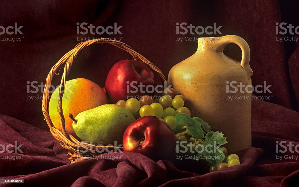 Basket Of Fruit royalty-free stock photo