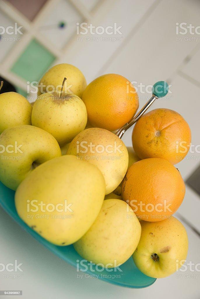 basket of fruit stock photo